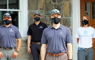 iQuarters Staff Wearing PPE Masks