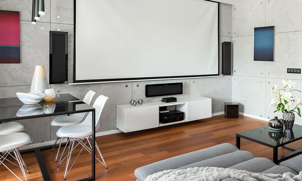 Projector Screen with Home Theater